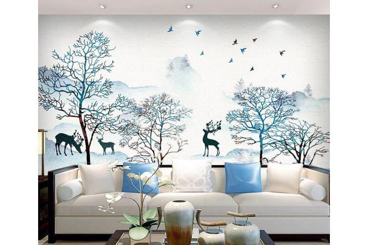 3D Home Wallpaper Deer Forest 1433 ACH Wall Murals Woven paper (need glue), XXL 312cm x 219cm (WxH)(123''x87'')
