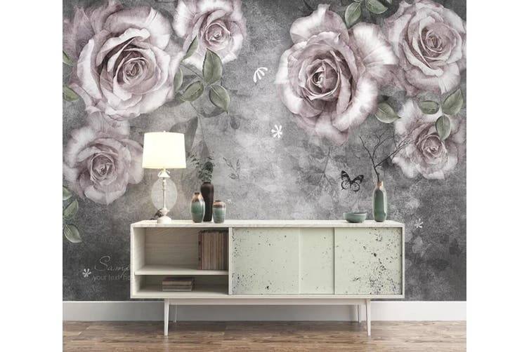 3D Home Wallpaper Flower 1432 ACH Wall Murals Woven paper (need glue), XXXXL 520cm x 290cm (WxH)(205''x114'')