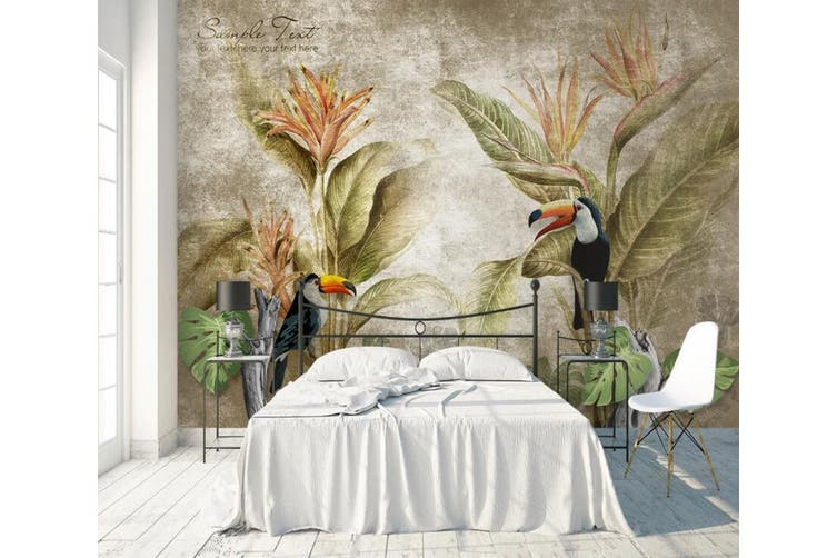 3D Home Wallpaper Flower Bird 1431 ACH Wall Murals Woven paper (need glue), XXL 312cm x 219cm (WxH)(123''x87'')