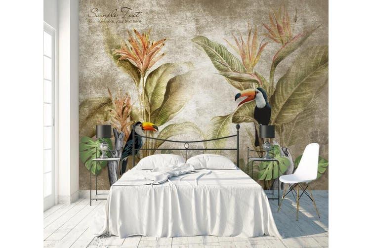 3D Home Wallpaper Flower Bird 1431 ACH Wall Murals Woven paper (need glue), XXXXL 520cm x 290cm (WxH)(205''x114'')