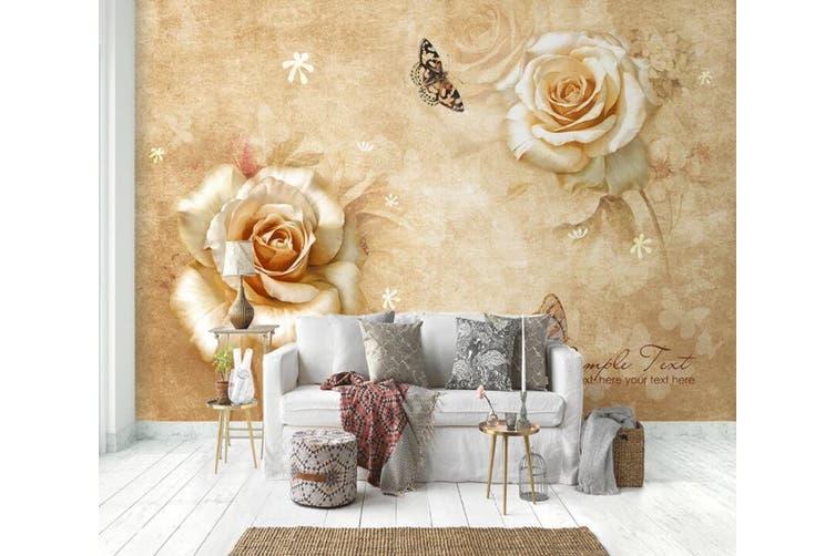 3D Home Wallpaper Flower 1430 ACH Wall Murals Woven paper (need glue), XXXL 416cm x 254cm (WxH)(164''x100'')