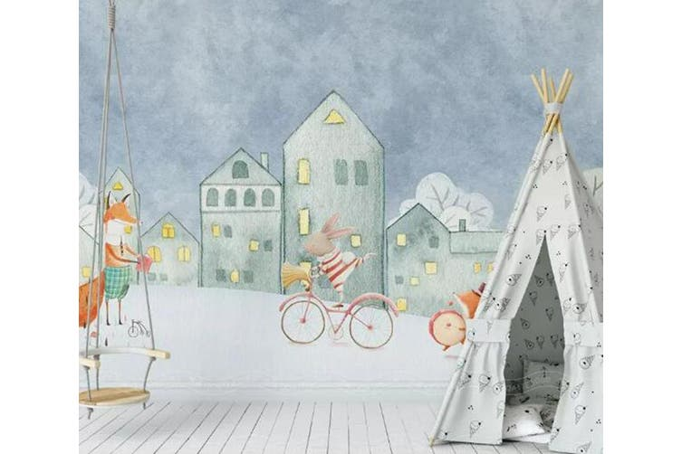 3D Home Wallpaper Castle Bicycle 1429 ACH Wall Murals Woven paper (need glue), XL 208cm x 146cm (WxH)(82''x58'')