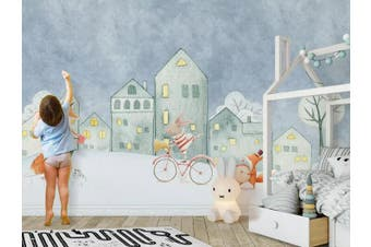3D Home Wallpaper Castle Bicycle 1429 ACH Wall Murals Woven paper (need glue), XXL 312cm x 219cm (WxH)(123''x87'')