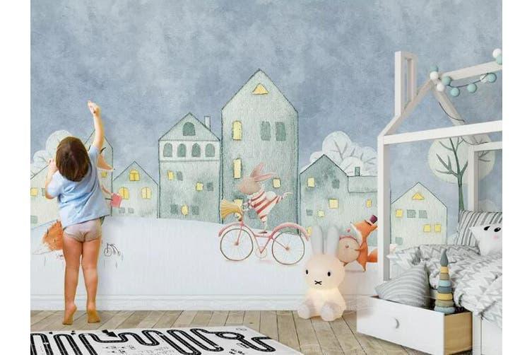3D Home Wallpaper Castle Bicycle 1429 ACH Wall Murals Self-adhesive Vinyl, XL 208cm x 146cm (WxH)(82''x58'')