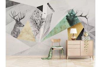 3D Home Wallpaper Pattern Patchwork 1428 ACH Wall Murals Woven paper (need glue), XL 208cm x 146cm (WxH)(82''x58'')