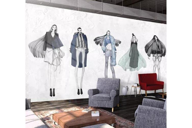 3D Home Wallpaper Fashion Lady 1426 ACH Wall Murals Woven paper (need glue), XXL 312cm x 219cm (WxH)(123''x87'')