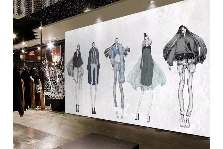 3D Home Wallpaper Fashion Lady 1426 ACH Wall Murals Self-adhesive Vinyl, XXXL 416cm x 254cm (WxH)(164''x100'')