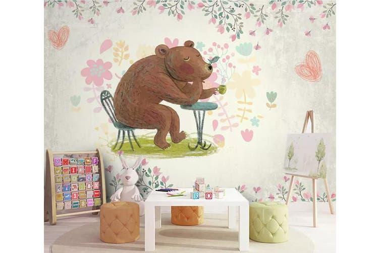 3D Home Wallpaper Cute Bear 1425 ACH Wall Murals Woven paper (need glue), XL 208cm x 146cm (WxH)(82''x58'')