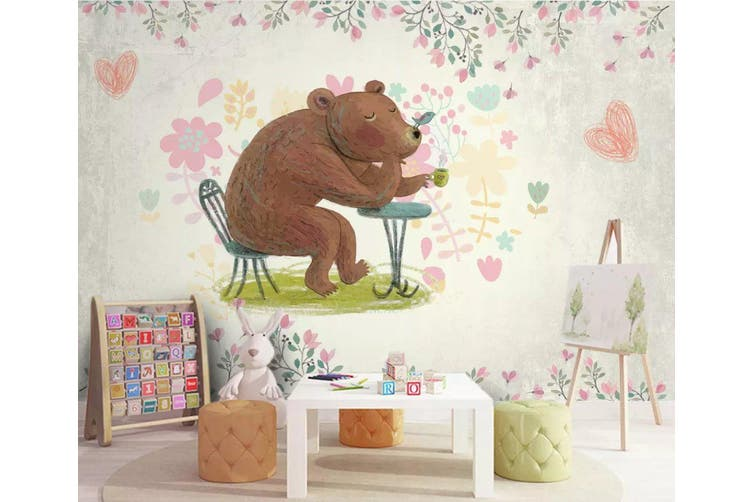 3D Home Wallpaper Cute Bear 1425 ACH Wall Murals Self-adhesive Vinyl, XXL 312cm x 219cm (WxH)(123''x87'')