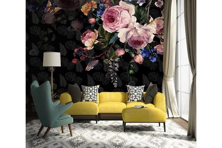 3D Home Wallpaper Flower 1424 ACH Wall Murals Woven paper (need glue), XXL 312cm x 219cm (WxH)(123''x87'')