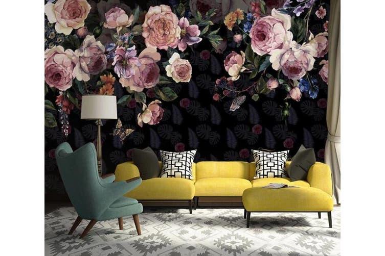 3D Home Wallpaper Flower 1423 ACH Wall Murals Woven paper (need glue), XXXXL 520cm x 290cm (WxH)(205''x114'')