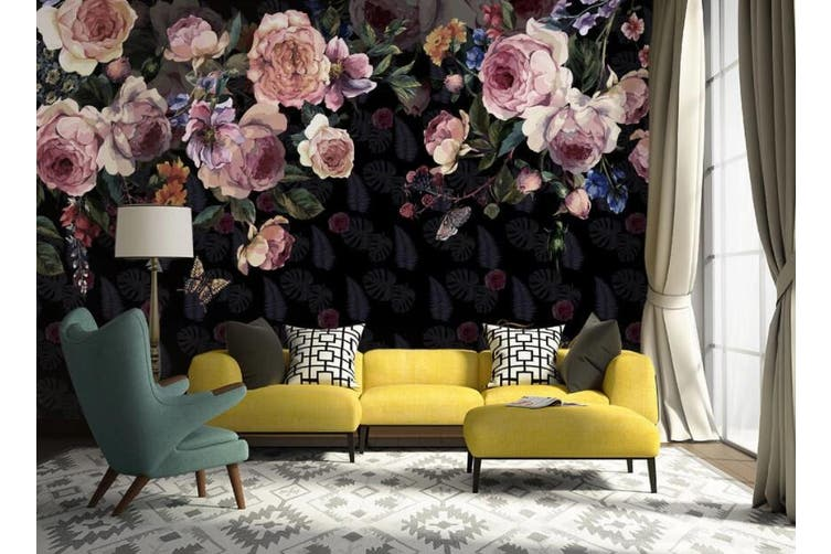 3D Home Wallpaper Flower 1423 ACH Wall Murals Self-adhesive Vinyl, XXXL 416cm x 254cm (WxH)(164''x100'')