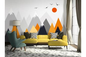 3D Home Wallpaper Mountain Peak Bird 1422 ACH Wall Murals Self-adhesive Vinyl, XXL 312cm x 219cm (WxH)(123''x87'')