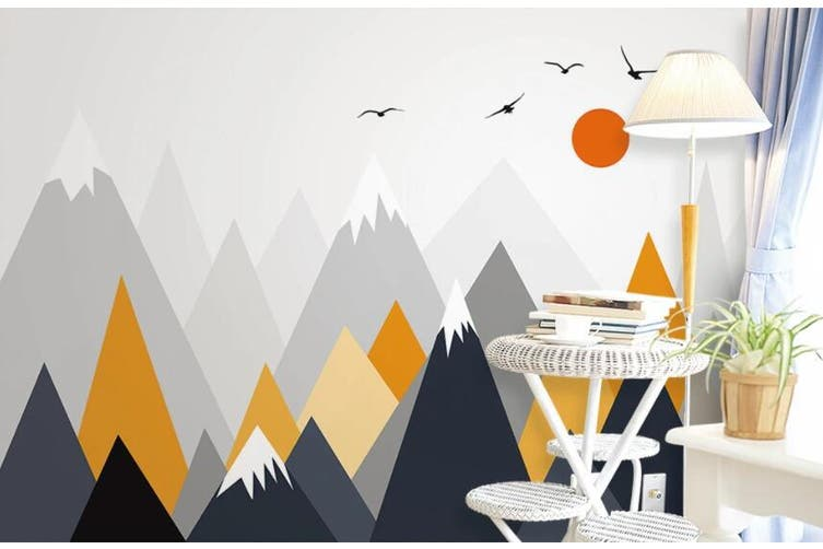 3D Home Wallpaper Mountain Peak Bird 1422 ACH Wall Murals Self-adhesive Vinyl, XXXL 416cm x 254cm (WxH)(164''x100'')