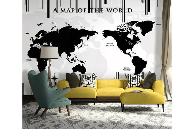 3D Home Wallpaper Black Balloon 14P ACH Wall Murals Woven paper (need glue), XXXL 416cm x 254cm (WxH)(164''x100'')