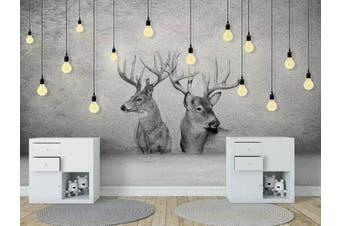 3D Home Wallpaper Elk 1415 ACH Wall Murals Woven paper (need glue), XXXL 416cm x 254cm (WxH)(164''x100'')