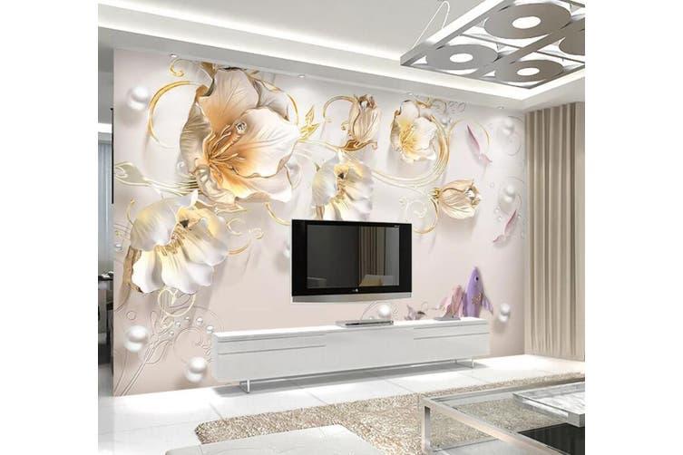 3D Home Wallpaper Flower 1414 ACH Wall Murals Self-adhesive Vinyl, XL 208cm x 146cm (WxH)(82''x58'')