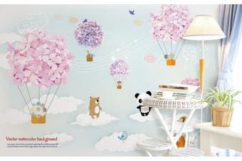3D Home Wallpaper Bear Balloon 14D ACH Wall Murals Woven paper (need glue), XXL 312cm x 219cm (WxH)(123''x87'')