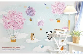3D Home Wallpaper Bear Balloon 14D ACH Wall Murals Self-adhesive Vinyl, XXXXL 520cm x 290cm (WxH)(205''x114'')