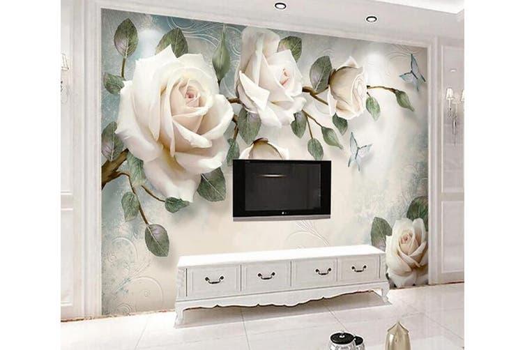 3D Home Wallpaper Flower 1412 ACH Wall Murals Woven paper (need glue), XL 208cm x 146cm (WxH)(82''x58'')