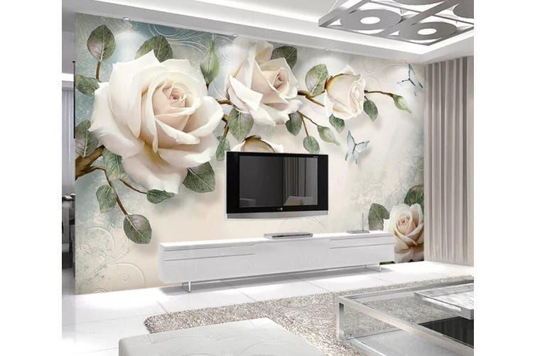 3D Home Wallpaper Flower 1412 ACH Wall Murals Woven paper (need glue), XXL 312cm x 219cm (WxH)(123''x87'')