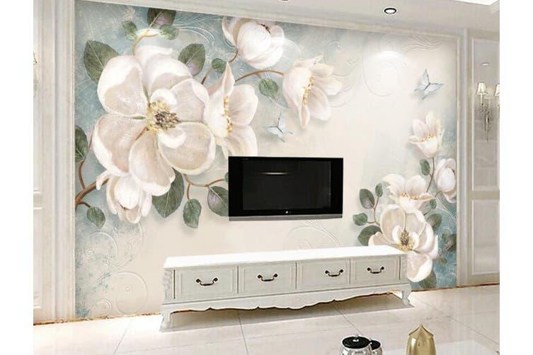 3D Home Wallpaper Flower 1411 ACH Wall Murals Woven paper (need glue), XXL 312cm x 219cm (WxH)(123''x87'')