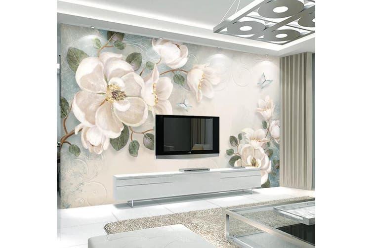 3D Home Wallpaper Flower 1411 ACH Wall Murals Self-adhesive Vinyl, XXL 312cm x 219cm (WxH)(123''x87'')
