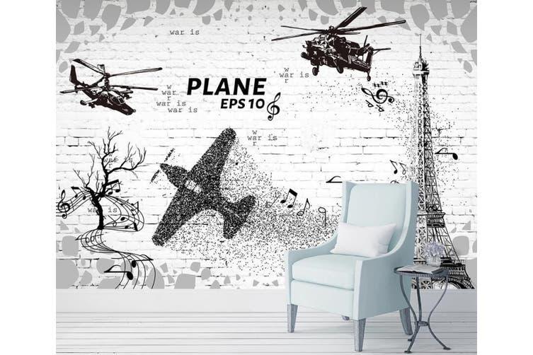 3D Home Wallpaper Aircraft 1410 ACH Wall Murals Woven paper (need glue), XL 208cm x 146cm (WxH)(82''x58'')