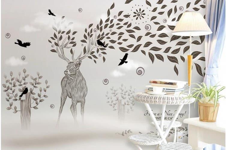 3D Home Wallpaper Elk 1408 ACH Wall Murals Woven paper (need glue), XXXXL 520cm x 290cm (WxH)(205''x114'')