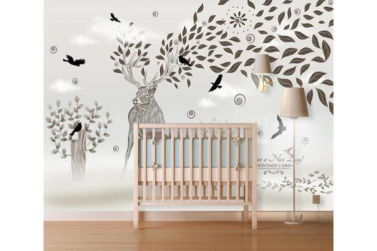 3D Home Wallpaper Elk 1408 ACH Wall Murals Self-adhesive Vinyl, XXXXL 520cm x 290cm (WxH)(205''x114'')