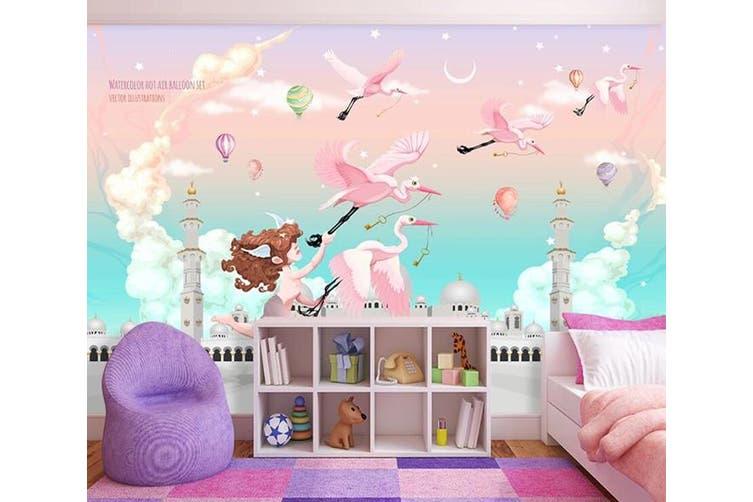 3D Home Wallpaper Pink Bird 1406 ACH Wall Murals Woven paper (need glue), XL 208cm x 146cm (WxH)(82''x58'')
