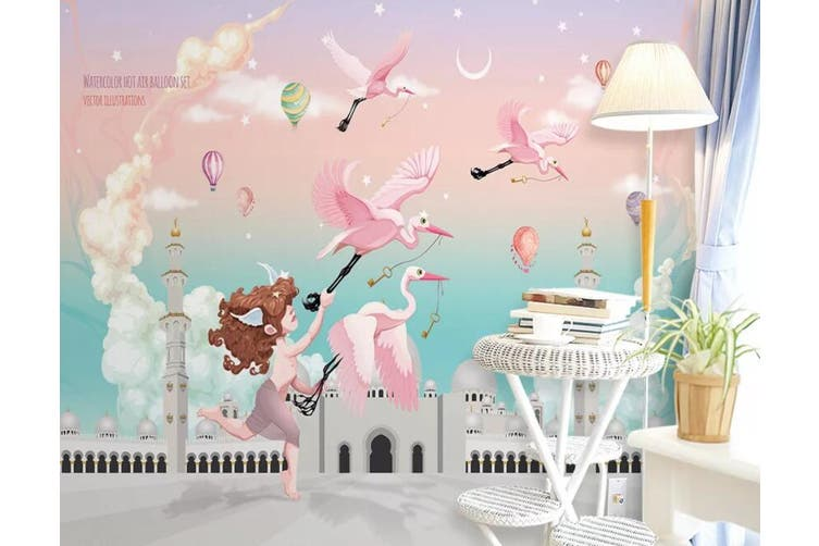 3D Home Wallpaper Pink Bird 1406 ACH Wall Murals Woven paper (need glue), XXXL 416cm x 254cm (WxH)(164''x100'')