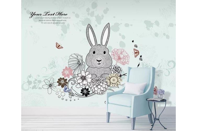 3D Home Wallpaper Cute Rabbit 1405 ACH Wall Murals Woven paper (need glue), XL 208cm x 146cm (WxH)(82''x58'')
