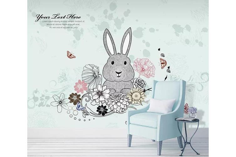 3D Home Wallpaper Cute Rabbit 1405 ACH Wall Murals Woven paper (need glue), XXXL 416cm x 254cm (WxH)(164''x100'')