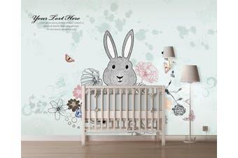 3D Home Wallpaper Cute Rabbit 1405 ACH Wall Murals Self-adhesive Vinyl, XL 208cm x 146cm (WxH)(82''x58'')