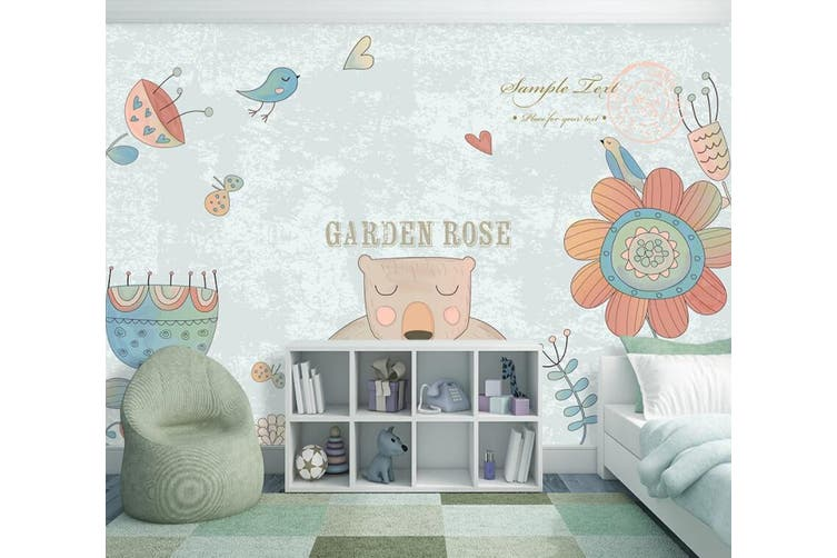3D Home Wallpaper Cute Bear 1401 ACH Wall Murals Self-adhesive Vinyl, XXL 312cm x 219cm (WxH)(123''x87'')