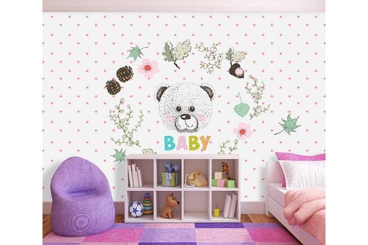 3D Home Wallpaper Bear D99 ACH Wall Murals Woven paper (need glue), XXL 312cm x 219cm (WxH)(123''x87'')