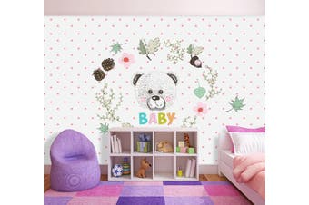3D Home Wallpaper Bear D99 ACH Wall Murals Self-adhesive Vinyl, XXXXL 520cm x 290cm (WxH)(205''x114'')