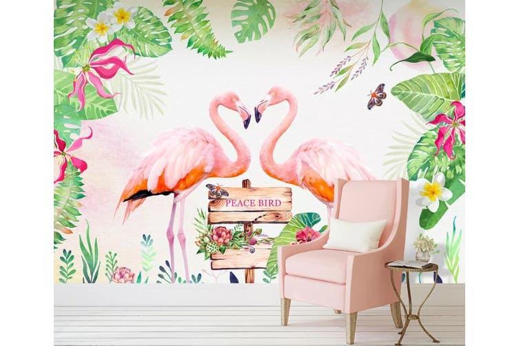 3D Home Wallpaper Pink Flamingo D98 ACH Wall Murals Woven paper (need glue), XL 208cm x 146cm (WxH)(82''x58'')
