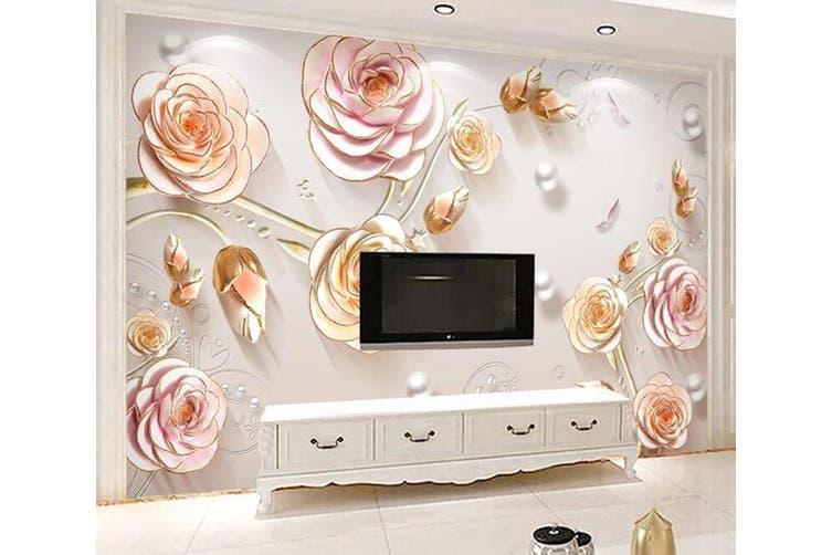 3D Home Wallpaper Flower D96 ACH Wall Murals Woven paper (need glue), XXL 312cm x 219cm (WxH)(123''x87'')