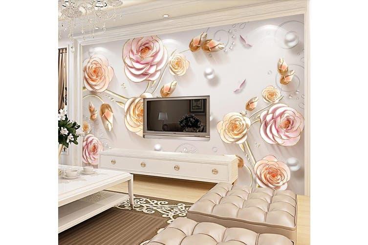 3D Home Wallpaper Flower D96 ACH Wall Murals Self-adhesive Vinyl, XXL 312cm x 219cm (WxH)(123''x87'')