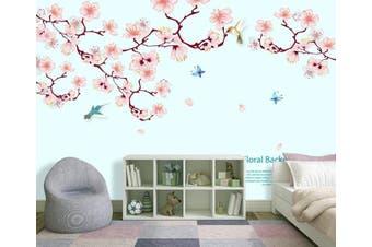 3D Home Wallpaper Pink Flowers D95 ACH Wall Murals Woven paper (need glue), XXXXL 520cm x 290cm (WxH)(205''x114'')