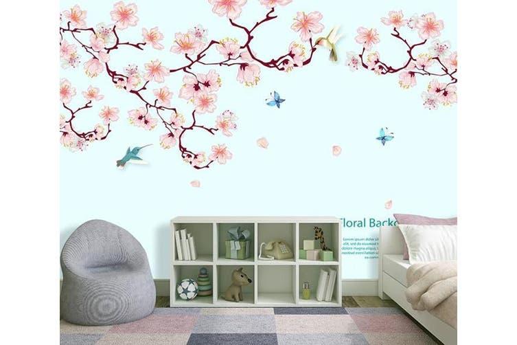 3D Home Wallpaper Pink Flowers D95 ACH Wall Murals Self-adhesive Vinyl, XXXXL 520cm x 290cm (WxH)(205''x114'')