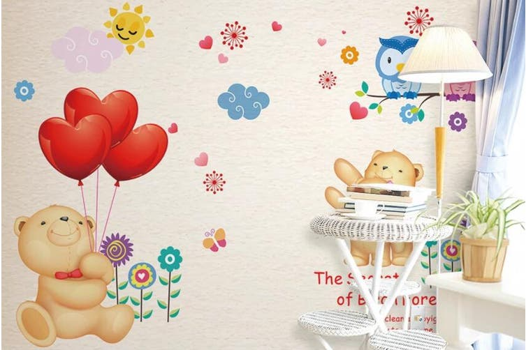 3D Home Wallpaper Cute Bear D94 ACH Wall Murals Woven paper (need glue), XXL 312cm x 219cm (WxH)(123''x87'')