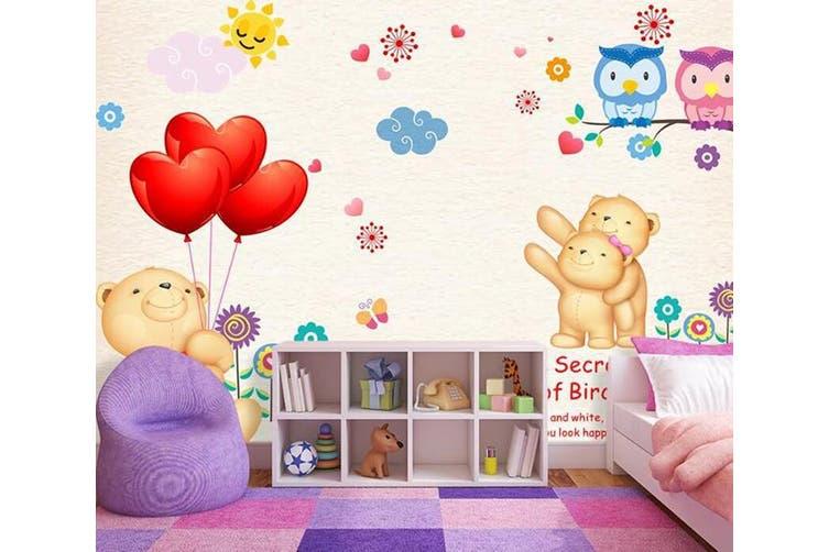 3D Home Wallpaper Cute Bear D94 ACH Wall Murals Self-adhesive Vinyl, XL 208cm x 146cm (WxH)(82''x58'')
