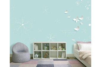 3D Home Wallpaper White Butterfly D93 ACH Wall Murals Self-adhesive Vinyl, XL 208cm x 146cm (WxH)(82''x58'')
