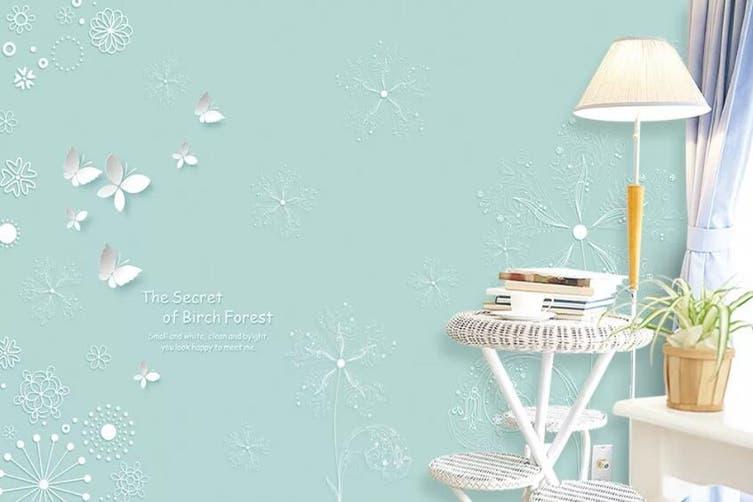 3D Home Wallpaper White Butterfly D93 ACH Wall Murals Self-adhesive Vinyl, XXXXL 520cm x 290cm (WxH)(205''x114'')