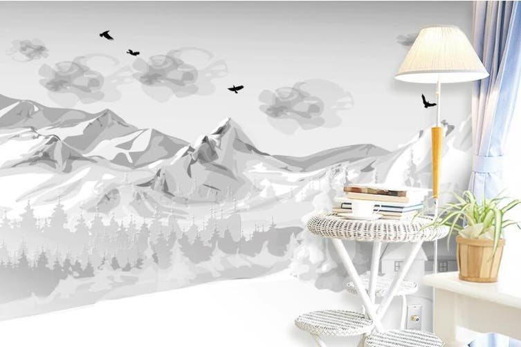 3D Home Wallpaper Snow Mountain D91 ACH Wall Murals Self-adhesive Vinyl, XXL 312cm x 219cm (WxH)(123''x87'')