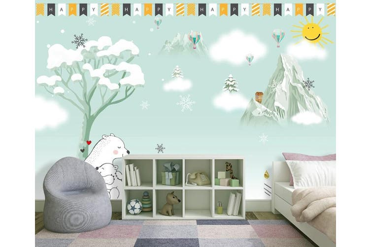 3D Home Wallpaper Snowflake D90 ACH Wall Murals Woven paper (need glue), XXXXL 520cm x 290cm (WxH)(205''x114'')