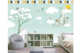3D Home Wallpaper Snowflake D90 ACH Wall Murals Self-adhesive Vinyl, XXXL 416cm x 254cm (WxH)(164''x100'')